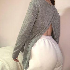 M Boutique Open-Back Long Sleeve
